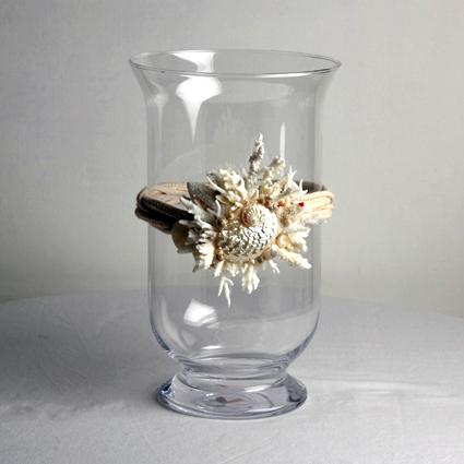 Vaso porta candela con coralli