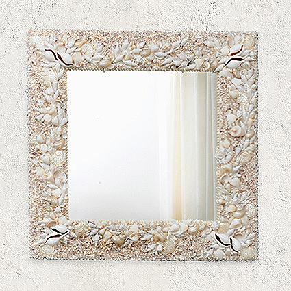 Specchio con conchiglie cristina vidolini creazioni in - Specchio con conchiglie ...