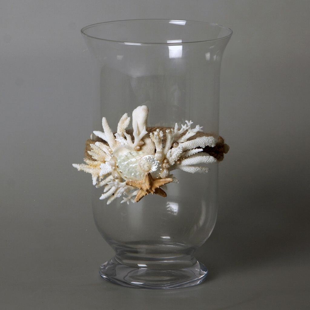 Vaso porta candela con coralli cristina vidolini for Vasi di vetro ikea