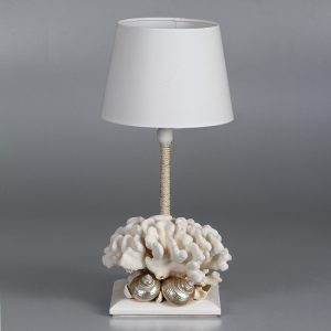 Lampada con corallo e corda