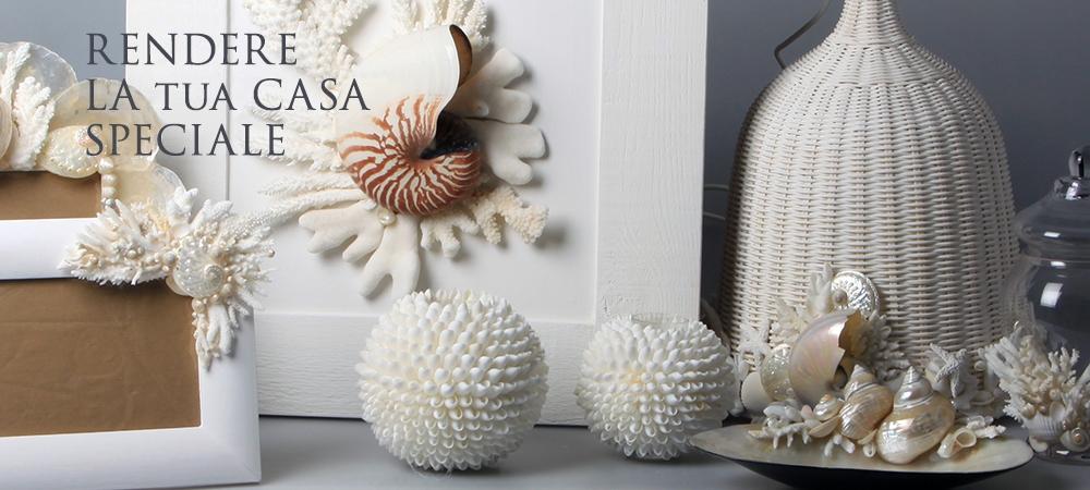 Cristina vidolini creazioni in corallo e conchiglie for Oggetti decorativi casa