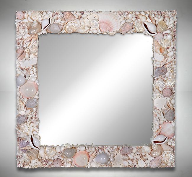 Specchio cristina vidolini - Specchio con conchiglie ...